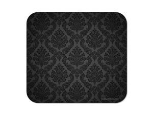 Deluxe Mouse Mat- Black & White Damask