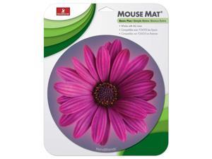 Handstands Round Flower Mouse Mat 9 x 11 x 0.17 Multicolor 13121