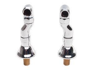Pair Clawfoot Tub Adjustable Supply Couplers Deck Mount | Renovator's Supply