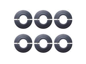 Radiator Flange Black Aluminum Escutcheon 1 11/16'' ID Pack of 6