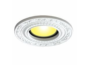 Spot Light Trim Medallions 6 Inch ID White Urethane Set of 10