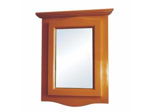 Golden Oak Hardwood Bathroom Medicine Cabinet Corner Wall Mount