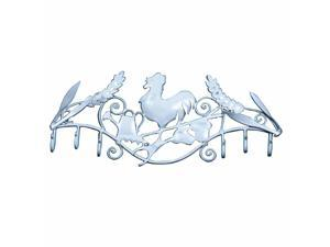 6 Hook Wrought Iron White Rooster | Renovator's Supply