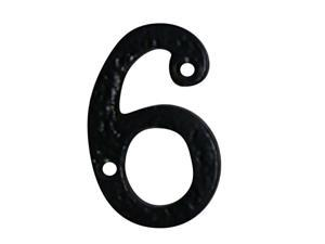 """Number """"6"""" or """"9"""" House Number Black Wrought Iron 4""""H 