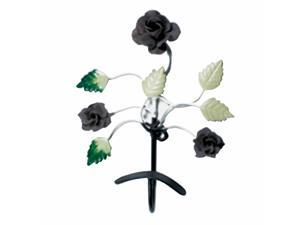 Flower Hook Wrought Iron Multi Colored Rose | Renovator's Supply