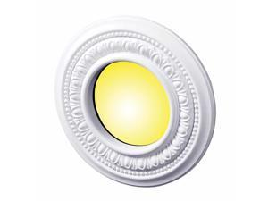 "5 Spot Light Ring White Trim 4"" ID x 8"" OD Mini Medallion Set of 5 | Renovator's Supply"