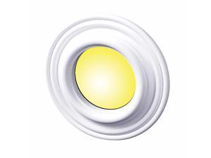 "10 Spot Light Ring White Trim 4"" ID x 8"" OD Mini Medallion 10 Pack | Renovator's Supply"