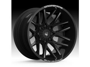 20 Inch Dropstars 654BM Concave 20x10 5x5.5/5x150 -25 Black/Milled Wheel Rim