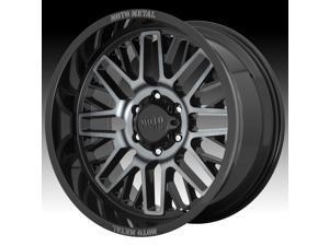 Moto Metal MO802 Warlock Machined Black Gray Tint 20x10 5x127 -18mm (MO80221050418N)