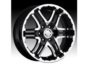 """gear alloy 713mb double pump wheel with machined finish 16x8""""/8x6.5"""", 0mm offset"""