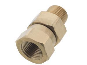 Erie Tools Pressure Washer 3/8in. Male to Female NPT Brass Swivel Coupler 3200 PSI