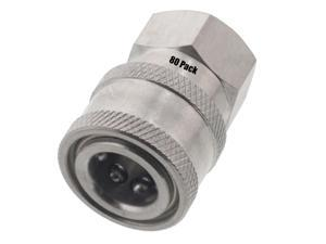 Erie Tools 10 Pressure Washer 3//8in Male to Female NPT Stainless Steel Swivel Coupler 3200 PSI