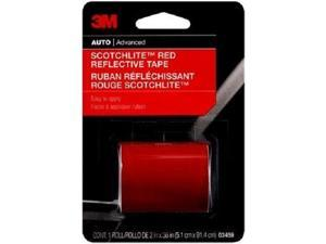 "3M 03459 2"" x 36"" Scotchlite Reflective Tape, Red"