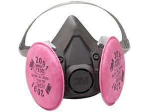 3M 07002 Half Facepiece Respirator 6291, Medium w/ Particulate Filters