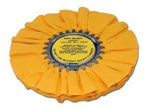 "Zephyr AWY-58-8-MT Yellow Airway Mill Treat 8"" Buffing Wheel"