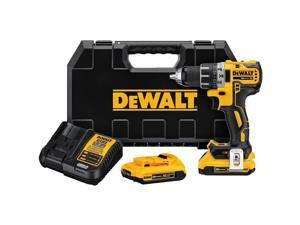 Dewalt DCD791D2 20V MAX XR Lithium-Ion Brushless Compact 1/2 in. Cordless Drill Driver Kit (2 Ah)