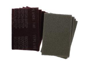 3M Scotch-Brite (7448/7447) (5) Light Duty Pads & (5) General Purpose Hand Pads