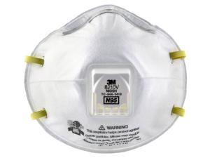 3M 8210V Industrial Particulate Respirator with Valve, N95 - 1 Box (10 Units)