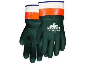 MCR Safety 6410SC Memphis Oil Hauler, PVC Over Orange Gloves, Large