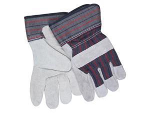 "Memphis Glove 12010l Economy Shldr Leather Palm 2.5"" Rubberized Cuff"