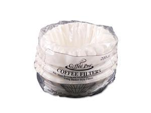 Original Gourmet Food Co. CPF200 Basket Filters for Drip Coffeemakers, 10 to 12-Cups, White, 200 Filters/Pack
