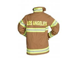 Aeromax FT-LA-AD-LRG Adult Fire Fighter Los Angeles Suit Large - Tan
