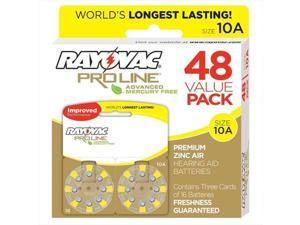 Rayovac Proline Advanced Mercury-Free Hearing Aid Batteries, Box - 48, Size 10A