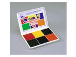 CENTER ENTERPRISES CE-SA546 STAMP PAD 6 PADS IN ONE-ORANGE RED BLUE YELLOW GREEN PURPLE