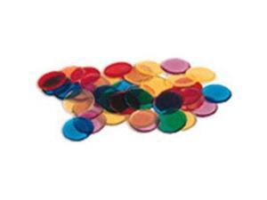 LEARNING RESOURCES LER0131 TRANSPARENT COUNTERS 250-PK-3/4 6 COLORS