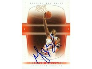Autograph Warehouse 87022 Gerald Wallace Autographed Basketball Card Charlotte Bobcats 2005 Fleer No .61