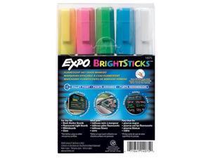 Bright Sticks, Medium Bullet Tip, Assorted Colors, 5/Set 14075