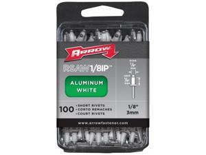 Arrow Fastener RSAW1/8IP Arrow Rivets-1/8X1/8 WHT ALUM RIVET