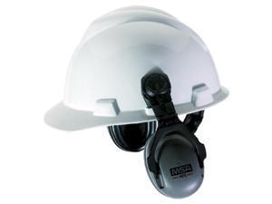 MSA 10061272 HPE Cap-Mounted Earmuffs, 27NRR, Gray/Black, 1 Each