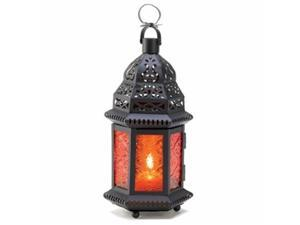 Eastwind Gifts d1058 Amber Moroccan Candle Lantern