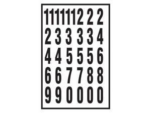Hy-ko MM-7N 2 in. Black & White Vinyl Self-Stick Numbers