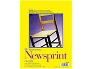 Strathmore 307-809 Newsprint Pads, 9 X 12 In., 50 Sheet