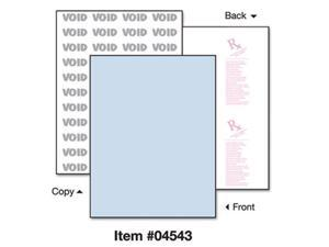 """8-1/2'' x 11"""" Premier Blue Medical Security Paper, 10 Security Features, 24# Blue Stock (Carton of 2500)"""