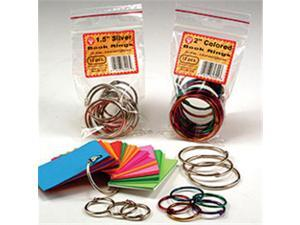 HYGLOSS PRODUCTS INC. HYG61355 BOOK RINGS 2 50 PER PACK