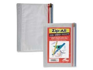 Anglers Company Ltd. ANG51 Zip All Ring Binder Pocket- 9-.50in.x6in.- Clear