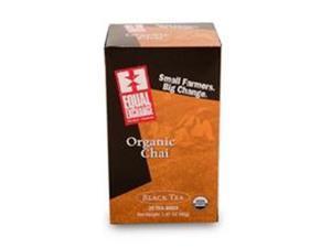 Equal Exchange B53265 Equal Exchange Black  Chai -6x20 Bag