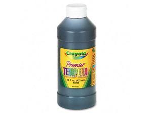 Crayola. 541216051 Premier Tempera Paint, Black, 16 oz