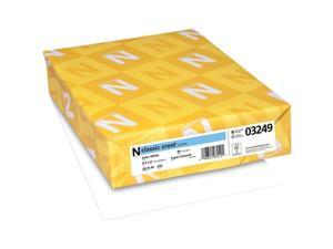 Neenah Paper N03249 8.5 x 11 in. Classic Crest Cardstock, Solar White