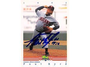 Autograph Warehouse 344333 Paul Byrd Autographed Baseball Card - Canton Akron Indians 1992 Classic Best No. 37 Minor League Rookie