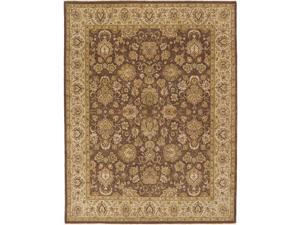 Due Process Stable Trading Rambagh Nain Brown & Beige Area Rug, 8 x 10 ft.