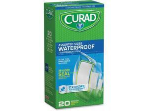 Curad MIICUR5108 Assorted Waterproof Bandages - Clear