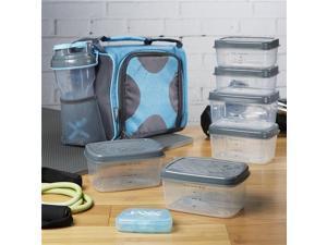 Medport 7086FFJX1645 Fitpak Insulated Meal Preparation Bag, Aqua