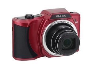 Minolta MN22Z-R 20 Megapixel 22X HD Wi-Fi Digital Camera with 22X Zoom, Red