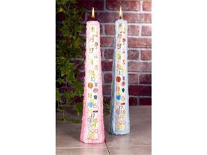 Biedermann  Sons CP241LBC Tall Blue Birthday Candle - Case of 12