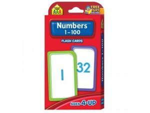 School Zone Publishing SZP04005BN Numbers 1-100 Flash Cards - Pack of 12
