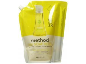 Method 01341   LEM Dish Refill Lemon Mint, Pack Of 6